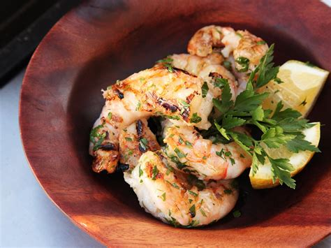 grilled shrimp grilled shrimp with garlic and lemon recipe serious eats