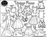 Coloring Printable Pages Paper Dolls Doll Marisole Roses Colour Paperthinpersonas Monday Sheets Printables Disney Crafts Colouring Rocks Bear Clothes Children sketch template