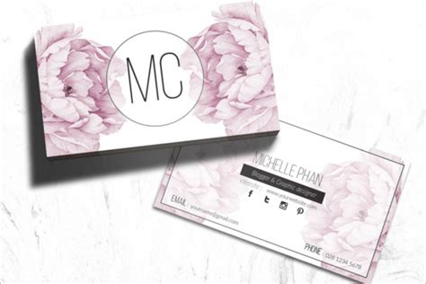Flower Shop Business Card Templates Free & Premium