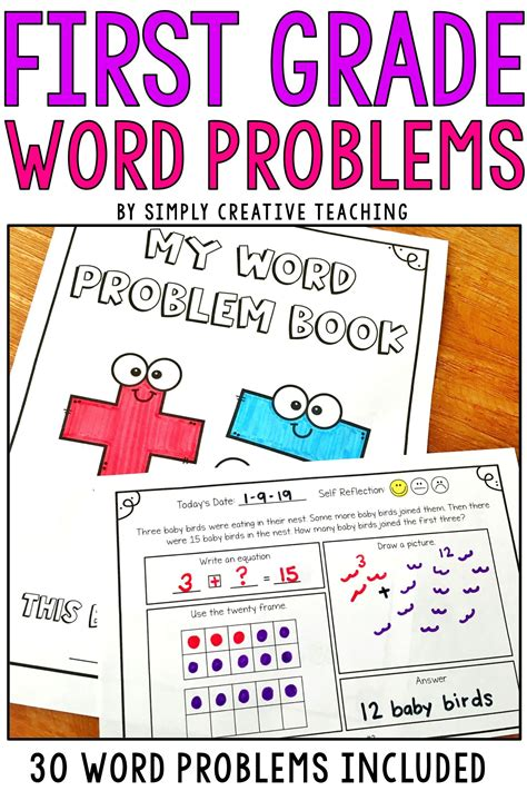 Most children love stories, and even problems and puzzles. 1st Grade Word Problems   Word problems, First grade words ...