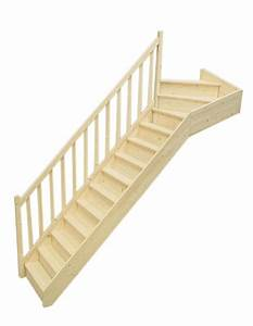 Escalier 1 4 Tournant Droit : escalier 1 4 tournant haut gauche en sapin pas cher achat vente en ligne ~ Dallasstarsshop.com Idées de Décoration