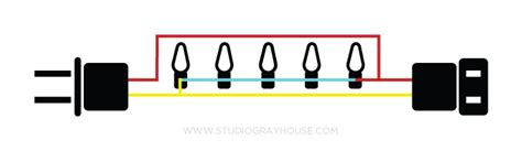 wiring diagram for string of christmas lights how to shorten string lights gray house studio