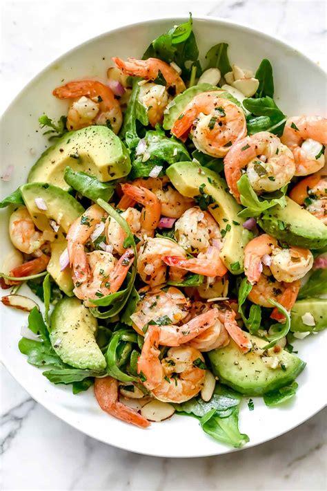 citrus shrimp salad  avocado foodiecrushcom