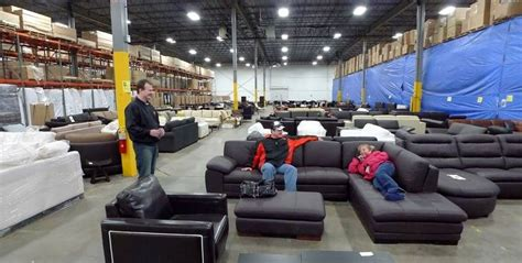 interior express outlet furniture business thrives with shoppers in the warehouse