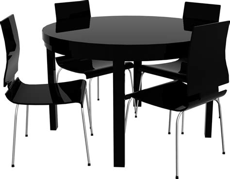 Cad And Bim Object  Round Bjursta Table And Chairs Ikea
