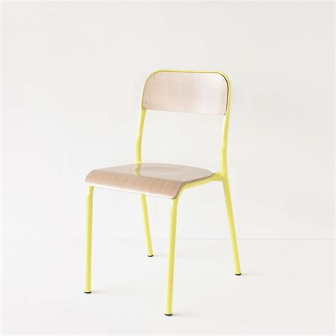 chaise d ecole chaise d quot école jaune citron