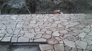 Pokládka kamenné dlažby do betonu