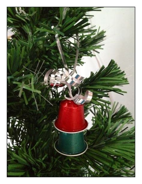 christmas ornaments   nespresso pods stay