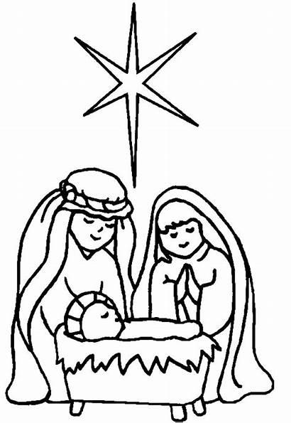 Jesus Coloring Born Star Bethlehem Play