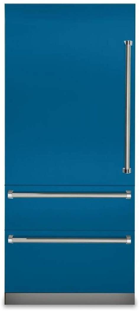 viking  series  cu ft alluvian blue professional built  left hinge bottom freezer