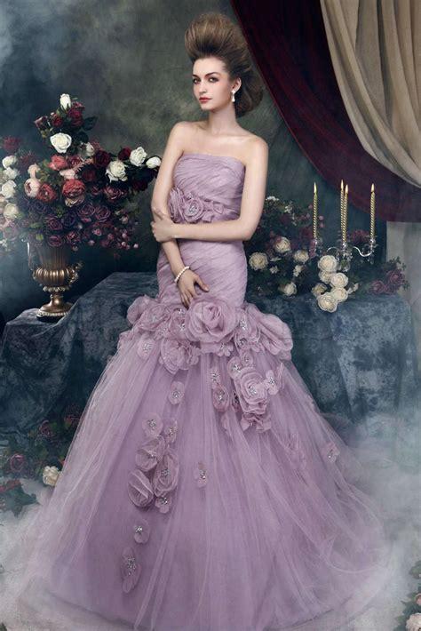 charming purple wedding gown vivanspace