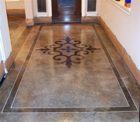 tile in kitchen floor 17 ideas about stained concrete on acid 6156
