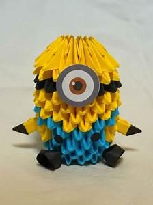 Despicable Me Minion 3d Origami By Pandanpandan On Deviantart