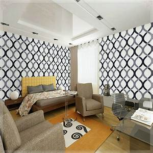 Swirl geometric wallpaper modern pvc roll background wall ...