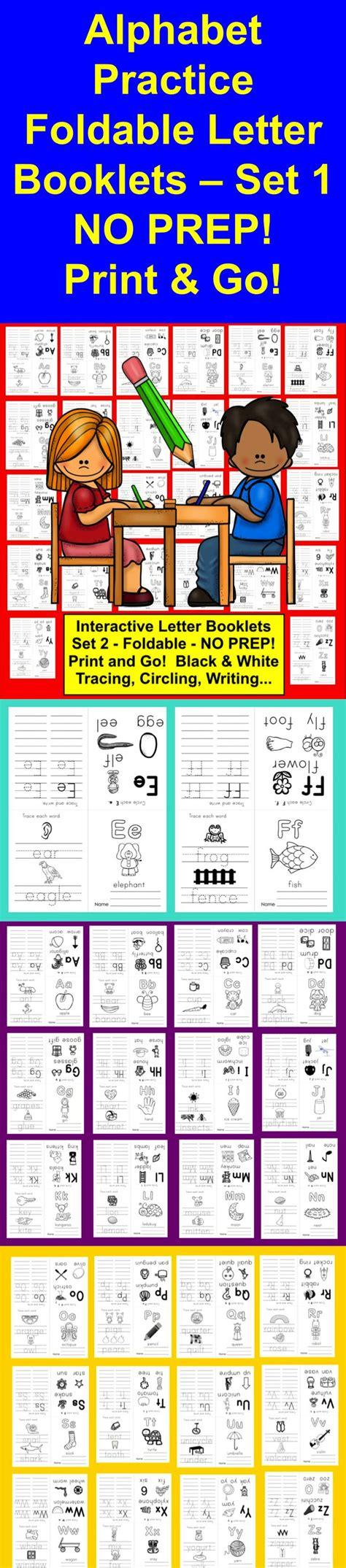 alphabet books  interactive foldable letter booklets