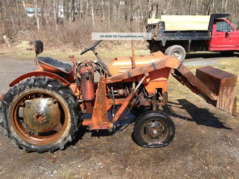 Economy Powerking Tractor With Attachments Front End