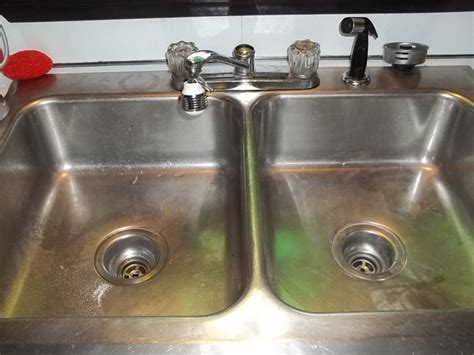 unclog  double kitchen sink drain dengarden