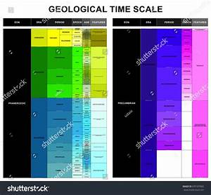 Geological Time Scale Infographic Diagram Including Stock