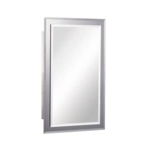home depot medicine cabinet with mirror mirror on mirror 16 in w x 26 in h x 5 in d recessed