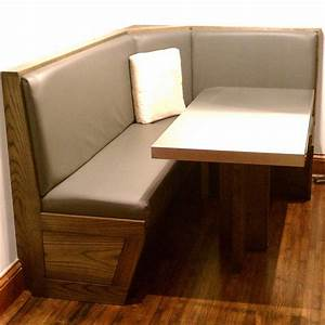 Custom Built-In Booth And Table by Blue Company Inc