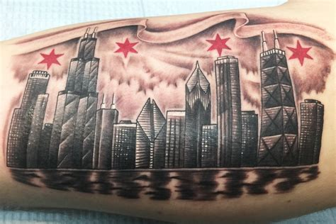 distinct chicago skyline tattoos  meanings