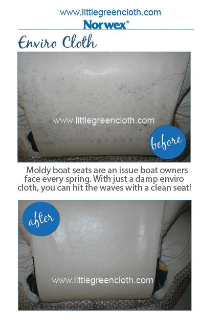 Norwex Boat Cleaner by Norwex Enviro Cloth Cleans Boat Seats In The Future