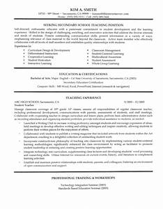 sample resume of a teacher in high school - secondary teacher resume example page 1
