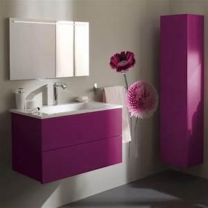Meuble salle de bain coloree for Meuble maison