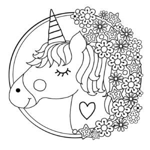 printable unicorn colouring pages  kids buster