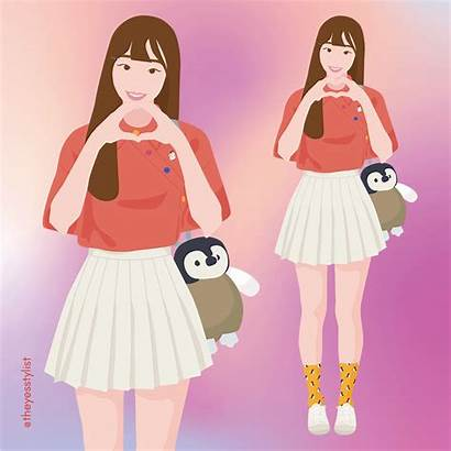 Loona Chuu Preppy Asian Spring Outfit Yesstylist