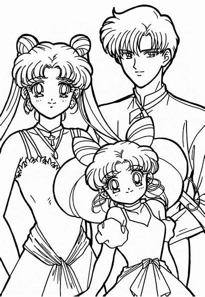Sailor Moon Coloring Pages Usagi Mamoru Sailormoon