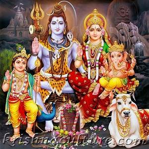 Amazon.com - Shiva Family Portrait Canvas Art - | Indian ...