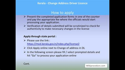 After submitting your change of address request, print your own label (for example, a return address label) with your new address and attach it to the back of your driver license, permit or id card. Kerala - Change Address Driver Licence - YouTube