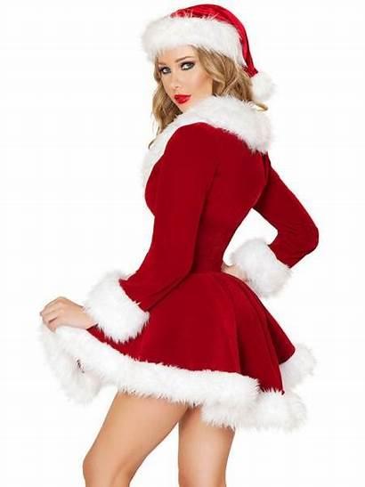 Velvet Christmas Costume Coat Sleeves Pieces Deluxe
