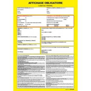 panneau signal 233 tique affichage obligatoire code du travail
