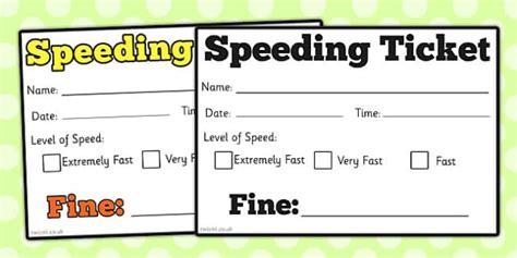 car speeding ticket role play speeding car ticket