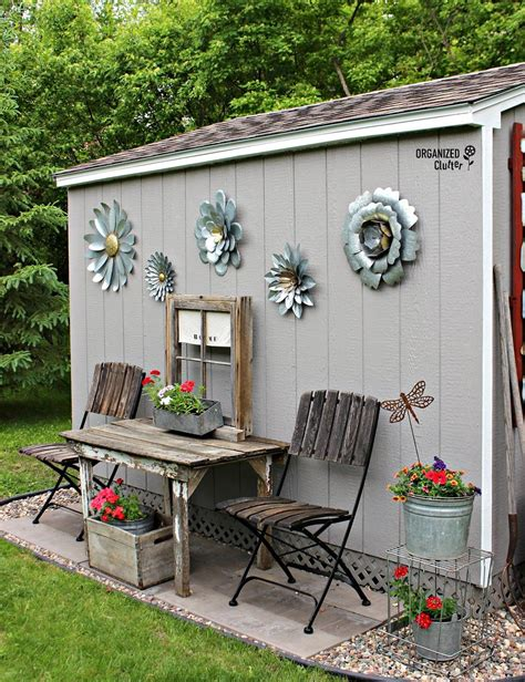 decorating a shed my new junk garden shed garden decorations outdoor