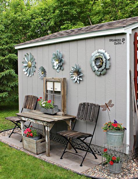 Outdoor Garden Decoration Ideas by My New Junk Garden Shed Garden Decorations Shed Decor