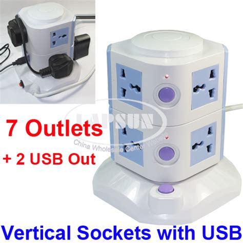 ls with usb ports and outlets 7 ways power strip multi switched vertical socket outlet