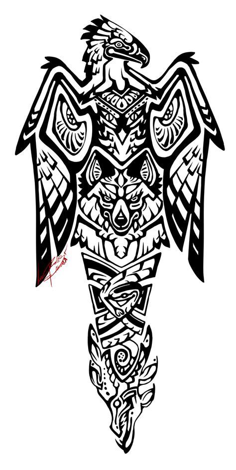 ArtStation - Totem Pole Tattoo, Rookshock Moore