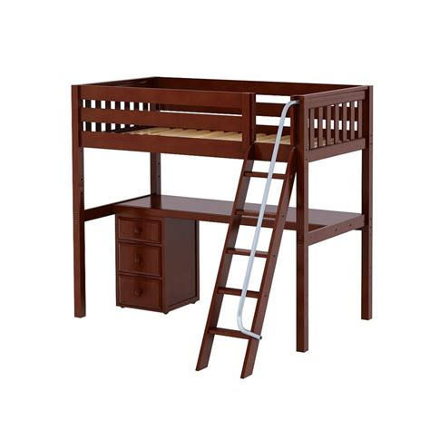 ladder desk with drawer maxtrixkids knockout2 cs high loft w angle ladder