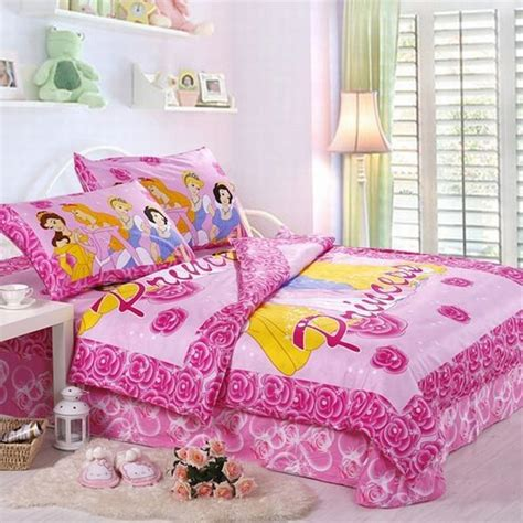 beautiful princess bed set  lovely pink
