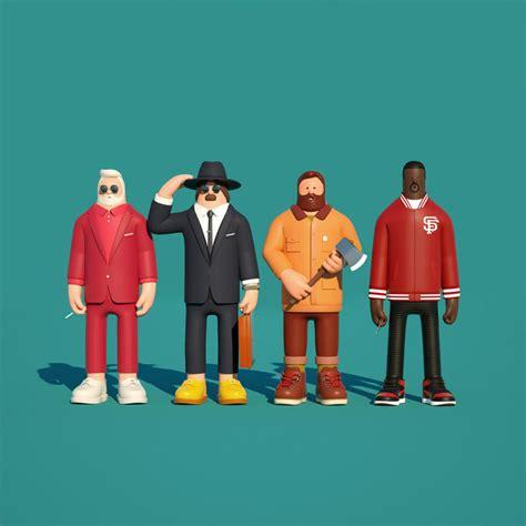 character design illustrations  superfiction