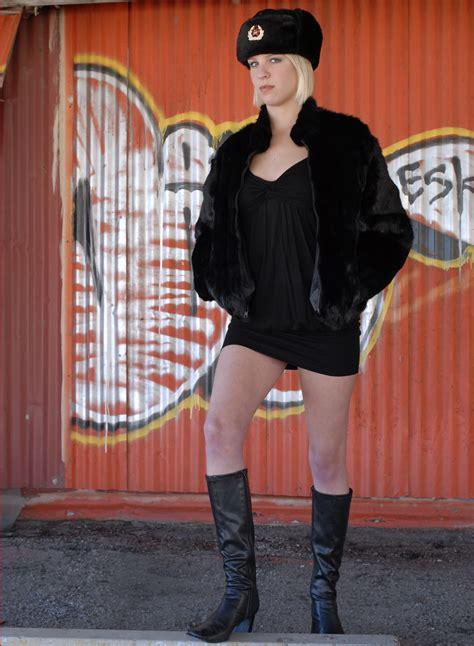images girl street urban female leg fur model