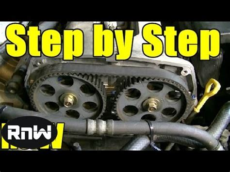 kia spectra timing belt replacement  dohc engine