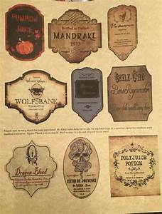 Labels Only Small Apothecary Potion Bottles Harry Potter