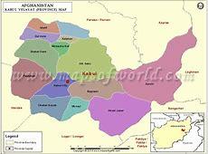 Kabul Map, Map of Kabul Province Velayat, Afghanistan