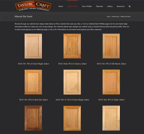 mitered flat panel cabinet doors taylorcraft cabinet