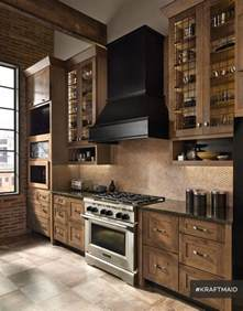 kitchen lighting ideas vaulted ceiling kraftmaid rustic alder kitchen cabinetry in husk suede