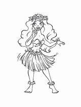 Coloring Hula Moana Drawing Hoop Sketch Listening Updated Getcolorings March Maui Getdrawings sketch template